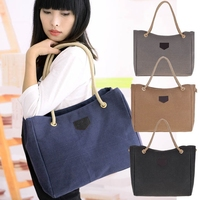 2015 most popular korean style wholesale large linen flax beach tote bag