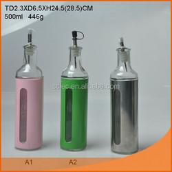 tinned glass oil bottle