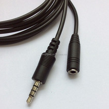 New Mold Audio Extension Cable High Quality 4 Pole Jack to 4 Pole Socket Audio Cable 2M