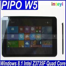 New product 8 inch IPS 1280*800 PIPO W5 tablet PC Windows 8 Intel Z3735F Quad Core 2GB/32GB Good Camera external 3G BT WIFI OTG