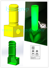 45CM Height 20CM Diameter Sign Plastic Safety Plastic Column with reflective effect
