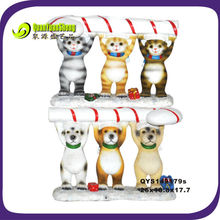 dog&cat resin christmas decoration for party/dog christmas decoration/cat resin gift