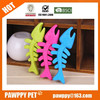 2015 Special Design TPR Silicone Rubber Fish Bone Shape Dog Toy