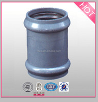 pvc two faucet coupling with gasket pressuer pipe fittings