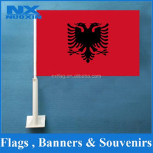 2015 Hot Sell China Factory Direct Albania Car Flag Red Black Flag