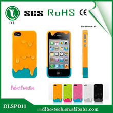 Top selling products in alibaba 3d phone case melting ice cream cover case mobile phone silicon case for iphone 4/4s
