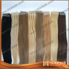 factory price natural color human virgin remy 7A 100% human skin weft hair extension