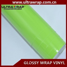 Ultrawrap 1.52x30 meter bubble free glossy green vehicle wraps vinyl