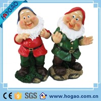 OEM resin garden dwarf statues, Outdoor dwarf figure for garden decoration, wholesale garden figures for gift