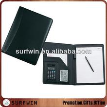 Black PU leather document folder