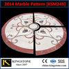 round flooring marble medallion,waterjet marble tiles design floor/lobby hall use