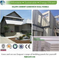 lightweight eps sandwich panel wall for flat top roof prefabricated house