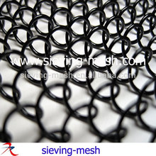 De malla negro chimenea de cortinas, de metal tejido de malla de alambre de cortinas