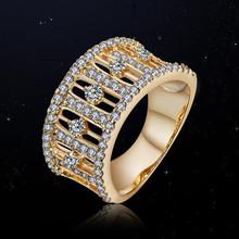 Anel de amor romântico com broca de diamante CZ anel de noivado anel de casamento barato