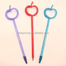 Fruit Shaped Top Plastic Ball Pen/Fruit shaped plastic pen