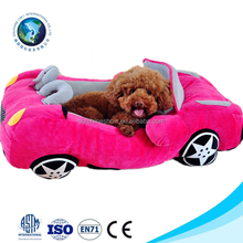 Cute pet toy luxury pet bed for dogs soft washable plush car shaped dog bed luxury