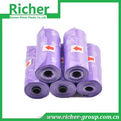cheap wholesale plastic waste garbage bag with recycled PE material