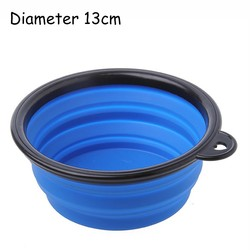 Dog Travel Bowl Feeder Pet Foldable Watering Feeding Food Collapsible Dog Bowl Pet Cat Eating Bowl With Handle Silicone Dog Bowl