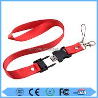 hot sale lanyard USB Flash Drive free sample