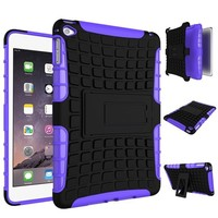 2 In 1 Pattern Shockproof Silicone and PC Hybrid Case for iPad mini 4