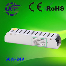 Single Output Type and 100~264VAC 60W IP20 Constant Voltage led driver,led switching power supply,slim led Power Supply 24v