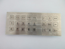 Metal keypad button metal material and telecommunication equipment keypad application kiosk keyboard