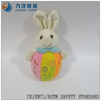 lovely baby plush/stuff toys/animal toys/plush bowling with ring/rabbit, Customised toys,CE/ASTM safety stardard
