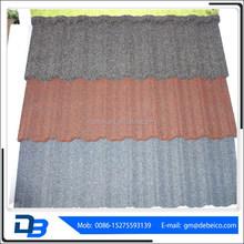 Shingle Stone coated metal roof tile/durable and sun stone coated metal roof tile