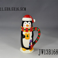 penguin animated mug ,animal shaped mugs,3d animal mug,