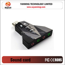 Aircraft Shape Virtual 7.1 CH Mini USB Sound Card double earphone and microphne socket