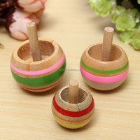 High Recommended 3PZ Trottola in Lengo Educational Wooden Kids Toy Spinning Top Spinner Classic