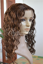 Rhythmhair body deep wave brown color 7a 100% virgin brazilian hair full lace wig human hair wig
