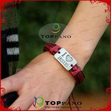 British style latest technology watch leather bracelet