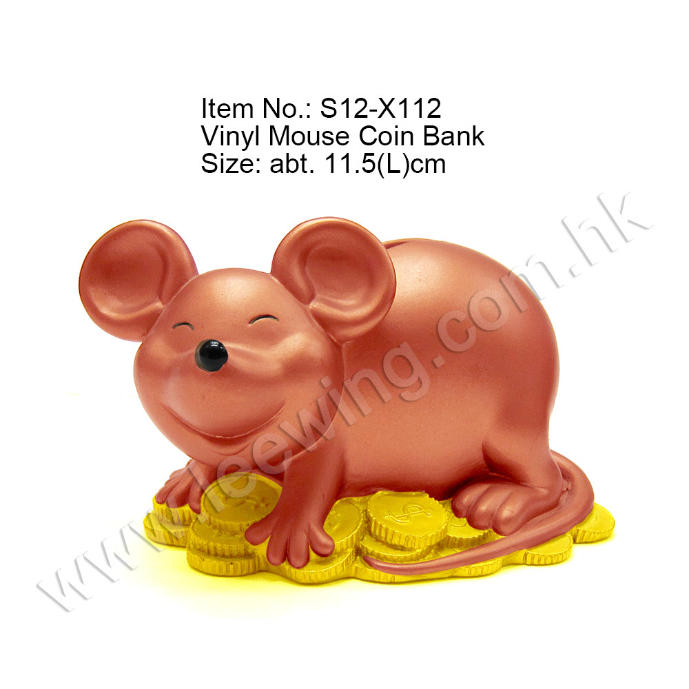 Plastic Money Coin Bank Mouse Chinese Zodiac