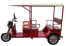 green petrol bajaj auto rickshaw korea