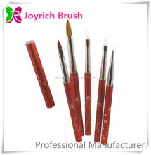 Professional Brush set for Nail Artists Diamond Metal Nail Art Pen Set