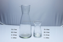 Glass water pot and vinegar and oil bottle/jar wine pot