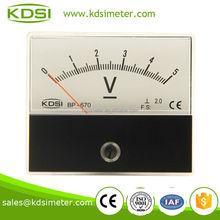BP-670 DC Voltmeter DC5V BATTERY CHARGER METERS,rectangle analog volt meter