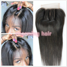 Hair Products High Quality Brazilian Straight Virgin Human Hair Free Part,Middle Part,Three Part Silk Base Closure