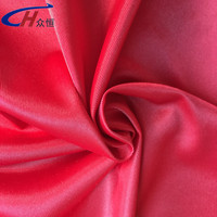 high standard polyester red mercerized plain cloth for sportswears& home textile
