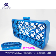 2015 women acrylic aluminum clutch evening bag