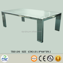 Rectangular Coffee Table Glass and Metal