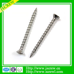 Cutting end, 4 ribs under flat head screw, Stainless steel screw