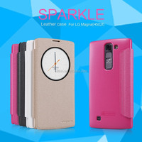 Nillkin sparkle Flip pu leather plastic back cover Case for LG Magna LG H502f
