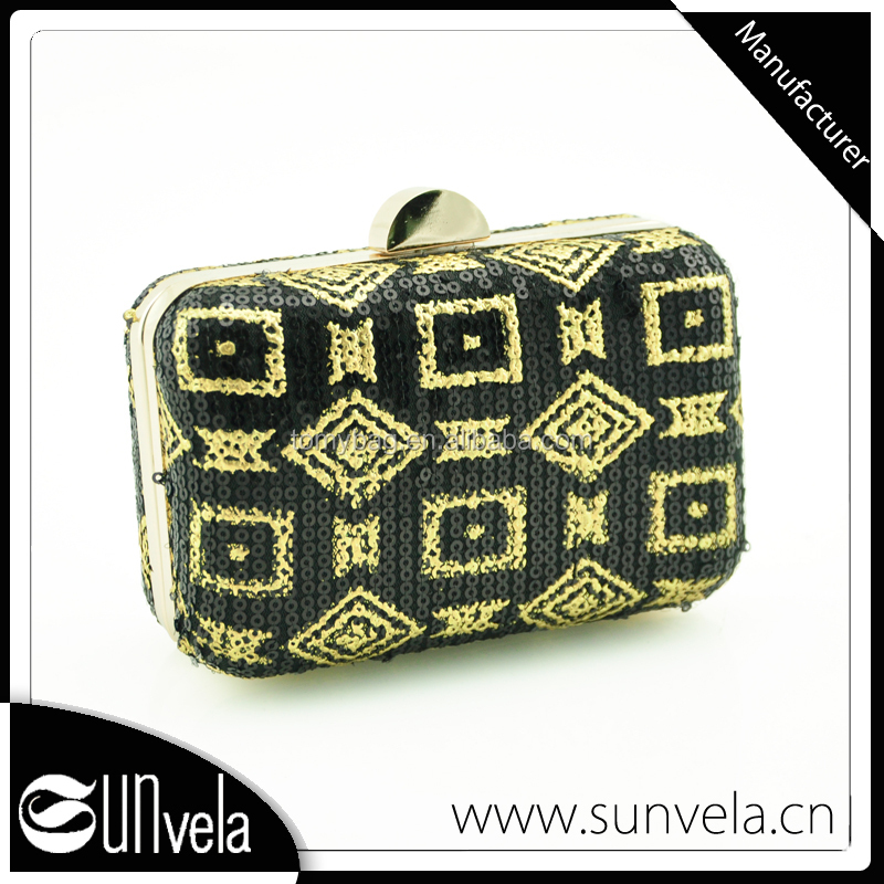 Manufacturer Crystal High Quality With Low Price Accept OEM Gold Evening Clutch Bag For Women Evening Bag Handbag And PU Bag