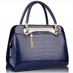 New 2015 Hot Sale Women Bag Shaped Alligator Patent Leather Bags Zipper Solid Brand Design Women Messenger Bags (BXJ0054)