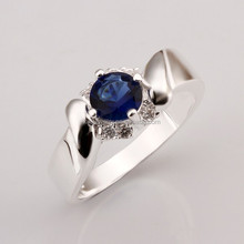 Beautiful Custom Sterling Silver Plating Colorful Zircon Stone Ring Jewelry For Wedding