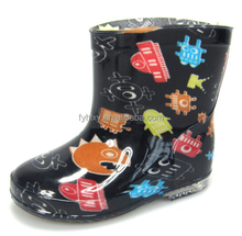 fashion cool boys pvc rain boots kids galoshes