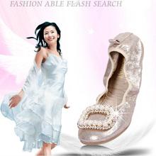 wholesale folding flat latest design lady shoes