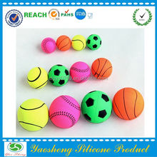 silicone pit dog chew toy ball